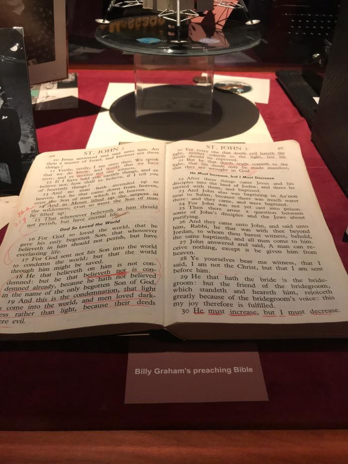 Billy Graham's preaching bible